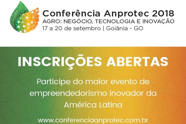 b110236de143 Estão abertas as inscrições para a Conferência Anprotec 2018