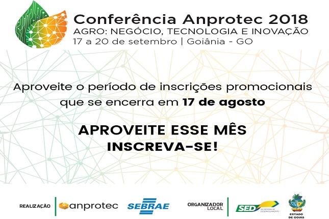 0df567771128 Últimos dias de inscrições com desconto para a 28ª Conferência Anprotec