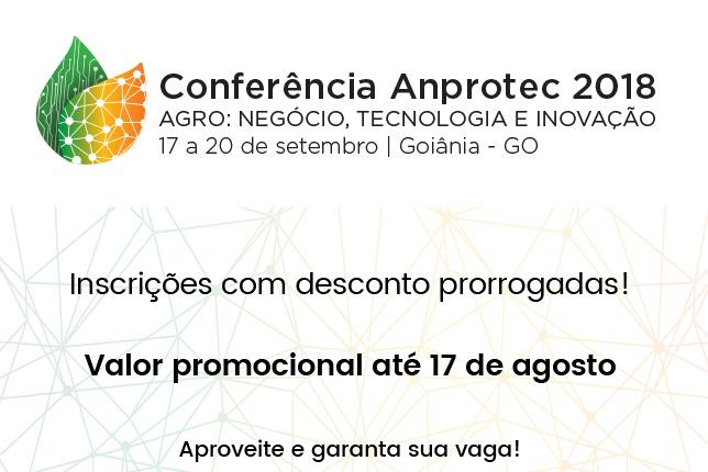 1c9e5786ff03 Inscrições com desconto para Conferência Anprotec 2018 são prorrogadas