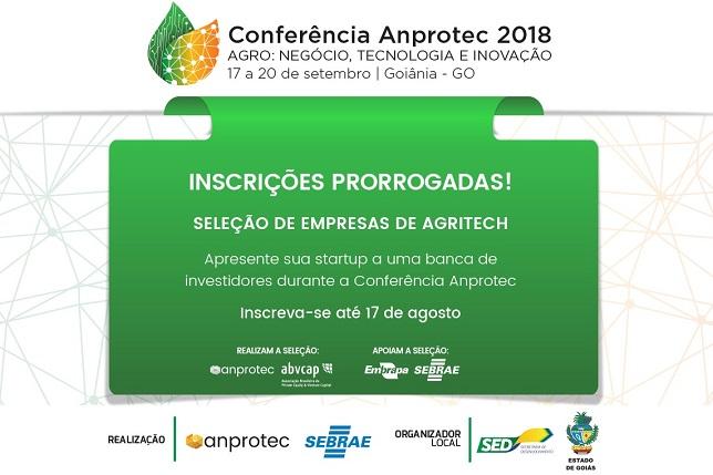 3c252cd5870e Prorrogadas as inscrições para startups de Agritech se apresentarem a  investidores na Conferência Anprotec