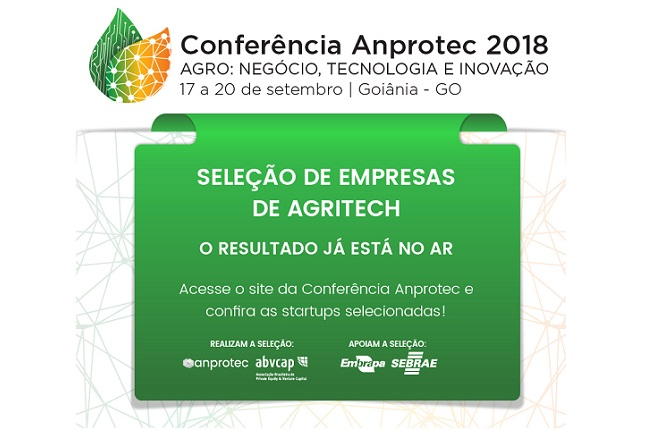3054e450f40e Anprotec e Abvcap divulgam resultado da seleção de empresas de Agritech